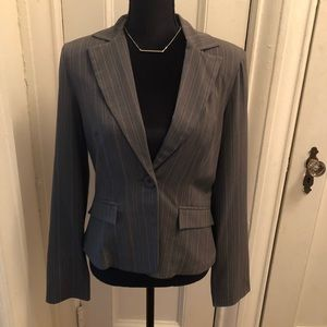 My Michelle gray striped blazer from Kohl's!